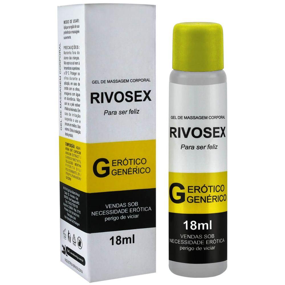 Estimulantes sexuais Rivosex gel com efeito retardante
