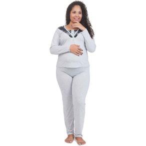 Pijama-Adulto-Gestante-com-Detalhe-em-Renda-e-Botoes-Victory