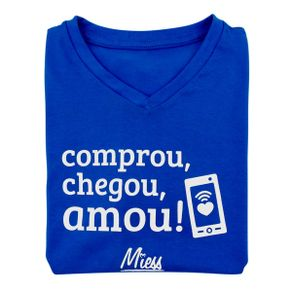 Camiseta-Masculina-Comprou-Chegou-Amou-Miess