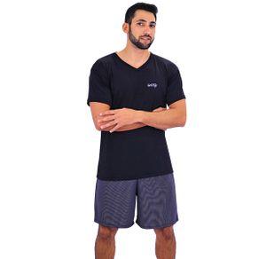Pijama-curto-em-liganete-com-camiseta-com-detalhe-estampado-e-short-listrado---Gatto-Style