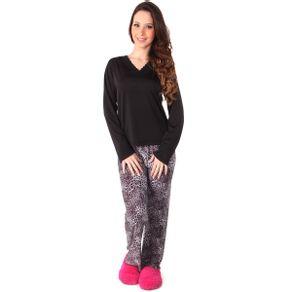 Pijama-longo-blusa-com-detalhe-em-renda-e-calca-estampada---Gatto-Style
