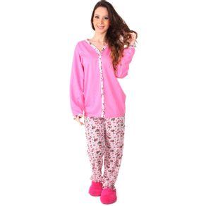 Pijama-longo-estampado-em-algodao-com-abertura-de-botao---Gatto-Style