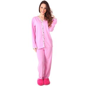 Pijama-longo-senhora-com-detalhes-estampados-e-blusa-com-botao---Gatto-Style