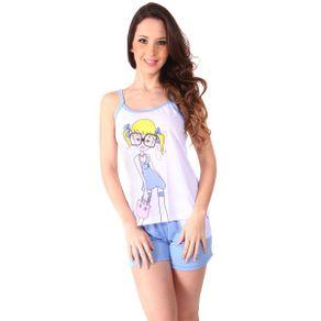 Short-doll-em-algodao-com-blusa-estampada-e-short-poa-com-bolso---Gatto-Style