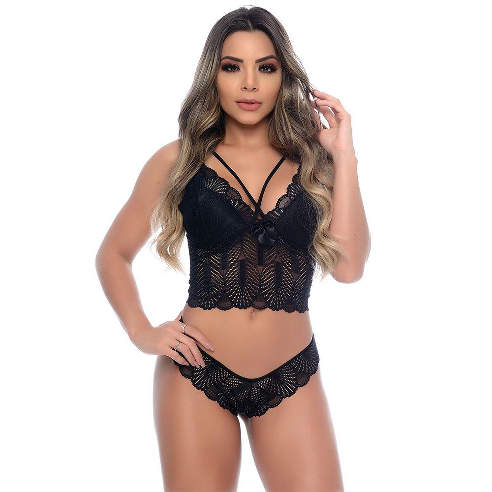 lingerie preta para revenda